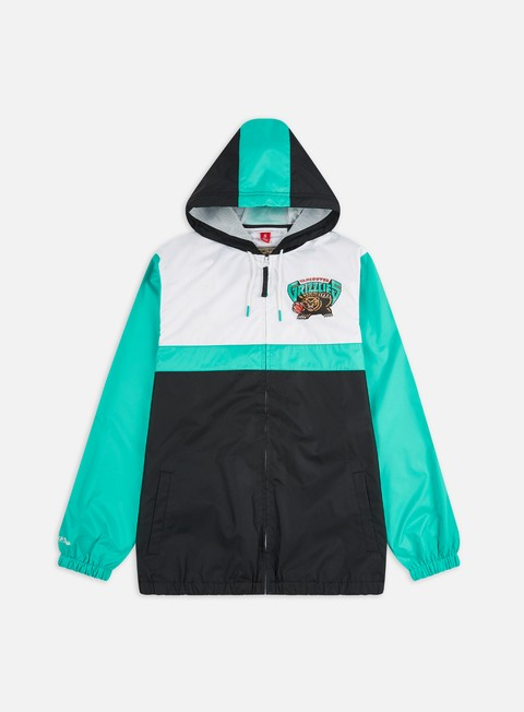 Giacche Leggere Mitchell & Ness Margin Of Victory Windbreaker Vancouver Grizzlies