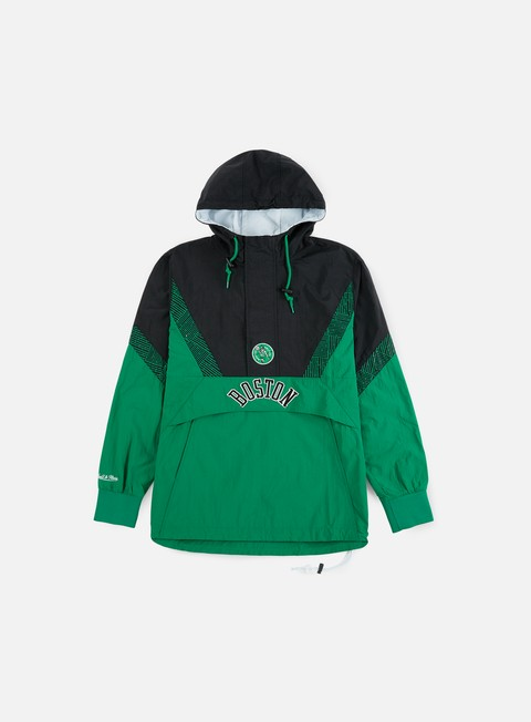 Light Jackets Mitchell & Ness NBA Half Zip Team Colour Anorak Boston Celtics