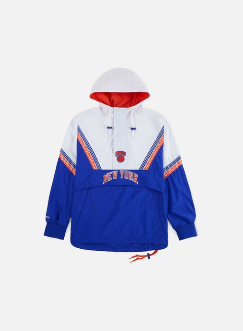 Light Jackets Mitchell & Ness NBA Half Zip Team Colour Anorak New York Knicks
