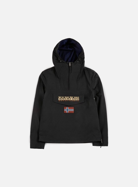 giacche napapijri rainforest slim summer anorak black