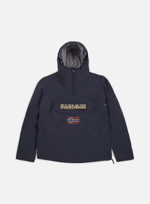 giacche napapijri rainforest winter anorak blu marine
