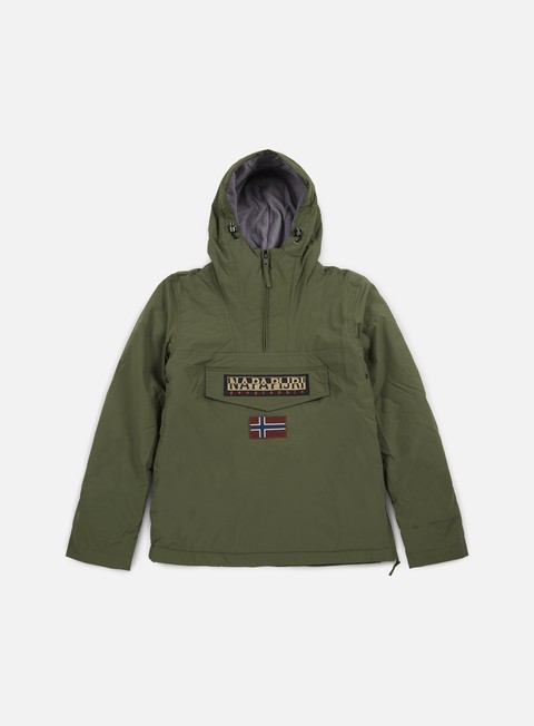 giacche napapijri rainforest winter anorak light olive