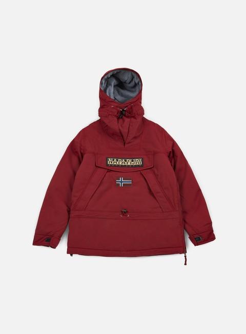 giacche napapijri skidoo anorak mineral red