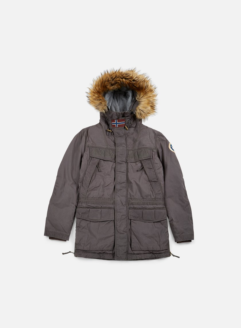 Napapijri - Skidoo Open Wax Jacket, Dark Grey Solid