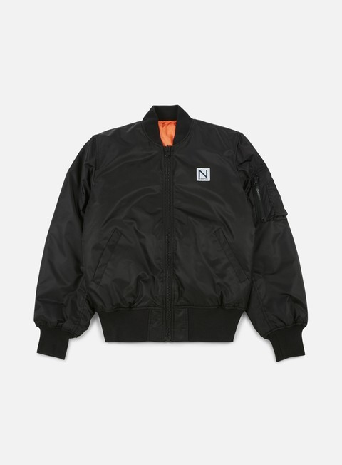 Giacche Intermedie New Black Bomber Jacket