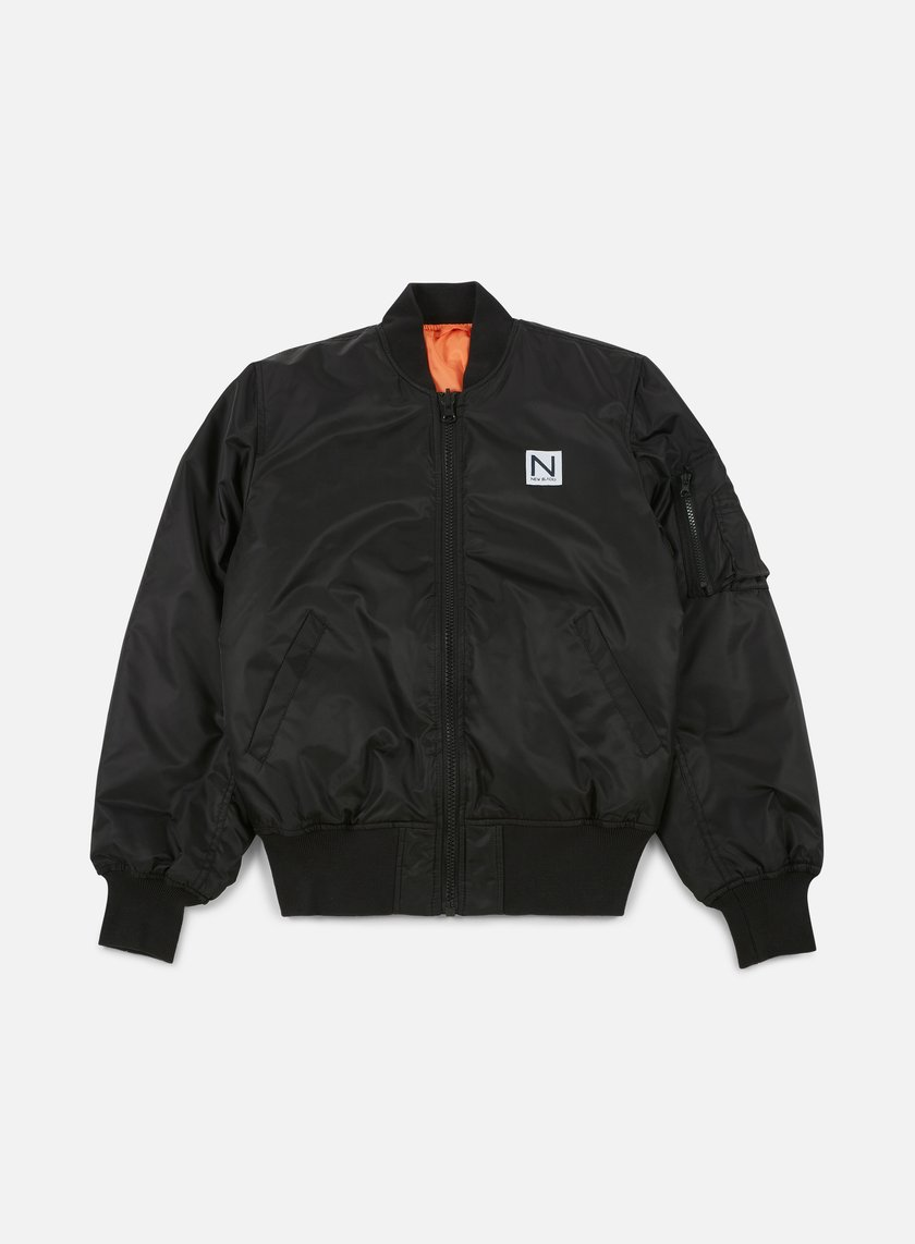 New Black Bomber Jacket