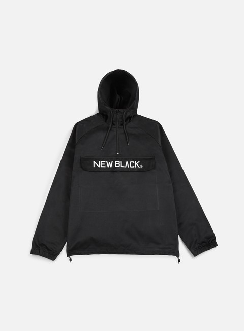 giacche new black logo anorak jacket black
