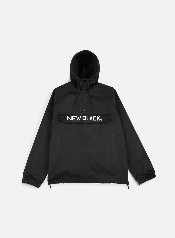New Black - Logo Anorak Jacket Black - Jackets Light