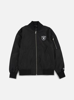 New Era - Concrete Bomber Jacket Oakland Raiders, Black 1