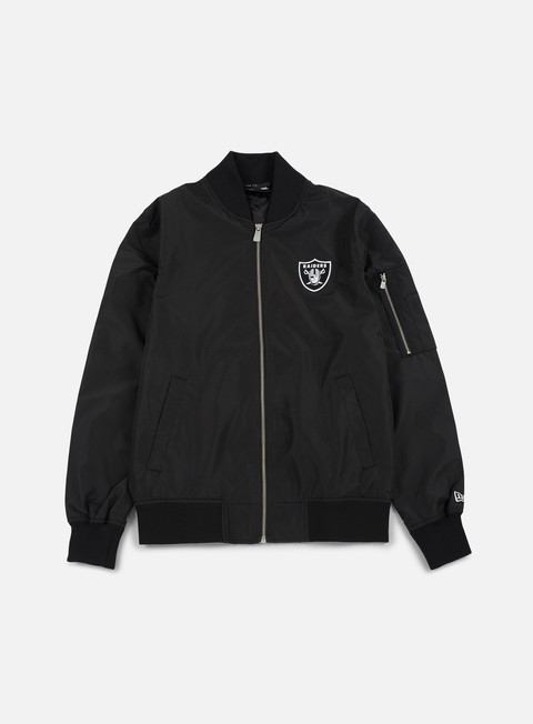 Bomber New Era Concrete Bomber Jacket Oakland Raiders
