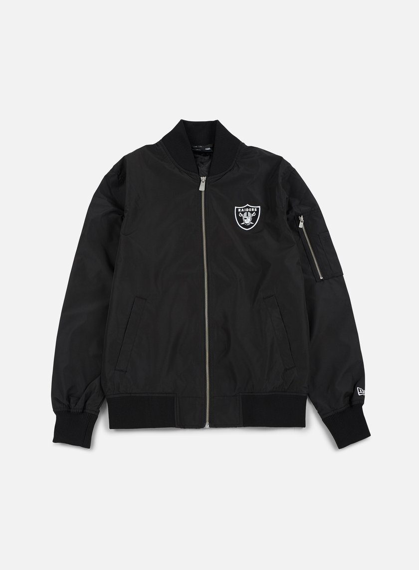 New Era - Concrete Bomber Jacket Oakland Raiders, Black
