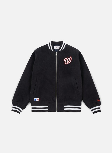 giacche new era east coast bomber jacket washington nationals navy