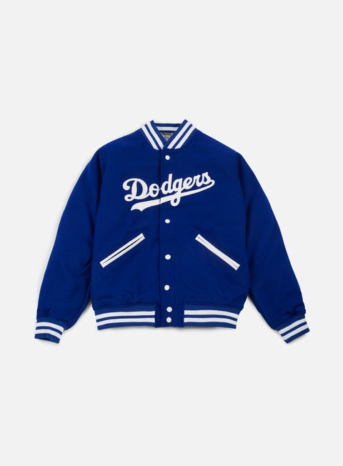 giacche new era heritage varsity jacket brooklyn dodgers royal blue