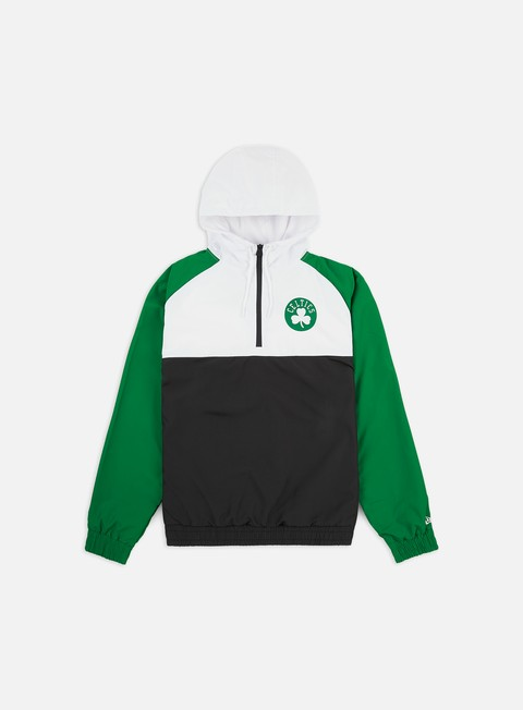 Giacche Leggere New Era NBA Hooded Windbreaker Boston Celtics