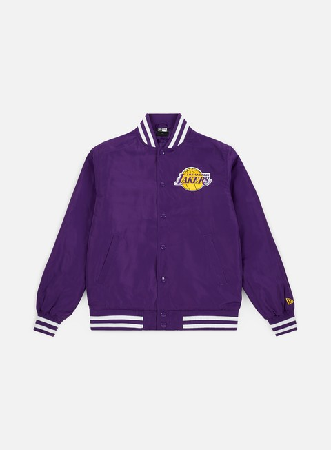 Bomber New Era NBA Team Apparel Bomber Los Angeles Lakers