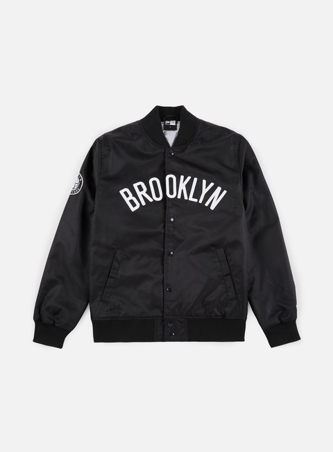 Bomber New Era NBA Team Wordmark Jacket Brooklyn Nets