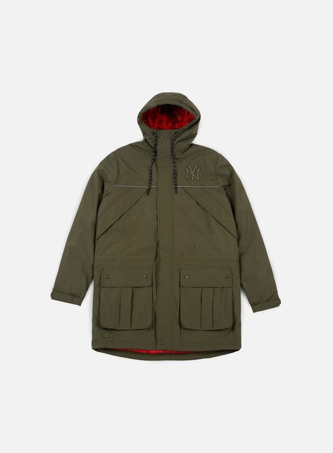 giacche new era ntc parka jacket ny yankees olive green