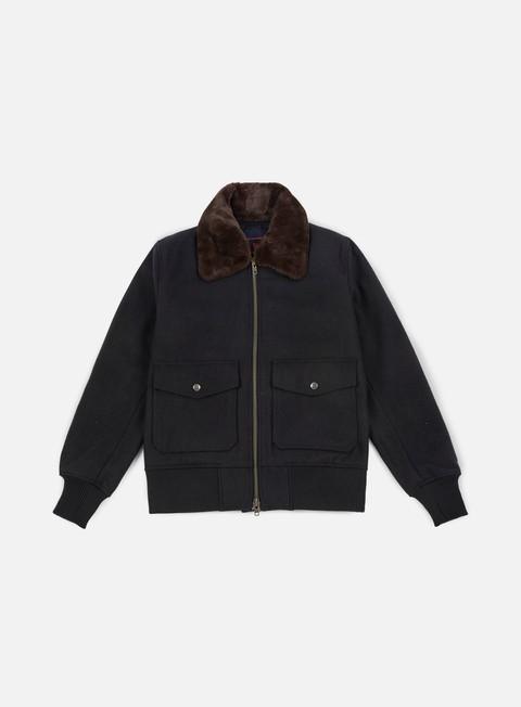 giacche new era premium classics shearling bomber jacket black