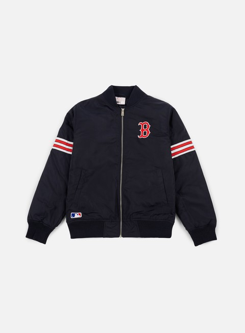 giacche new era team apparel bomber jacket boston red socks navy