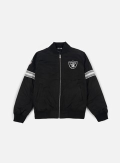 New Era - Team Apparel Bomber Jacket Oakland Raiders, Black 1