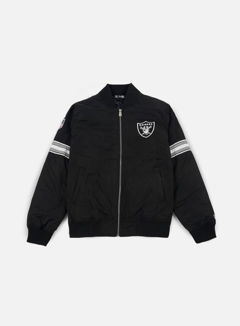 giacche new era team apparel bomber jacket oakland raiders black