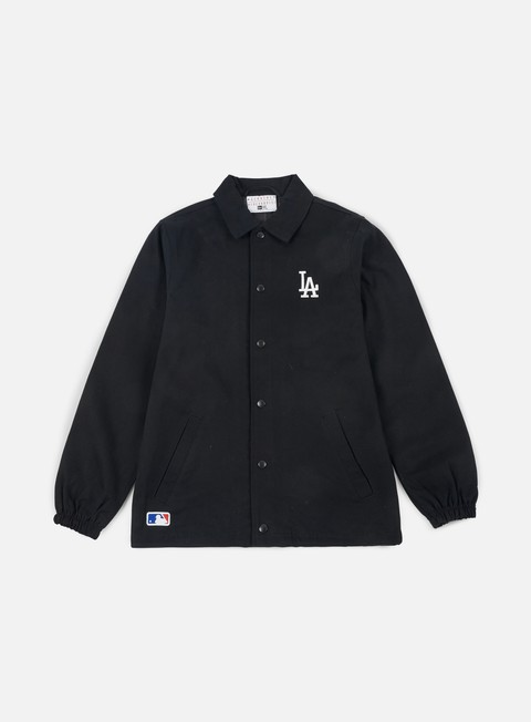 giacche new era team apparel coaches jacket los angeles dodgers black