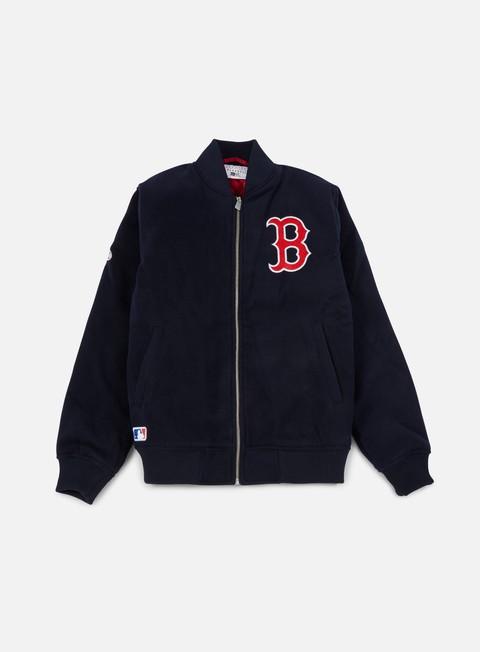 Giacche intermedie New Era Team Apparel Melton Bomber Jacket Boston Red Sox