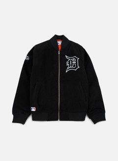 New Era - Team Apparel Melton Bomber Jacket Detroit Tigers, Black 1