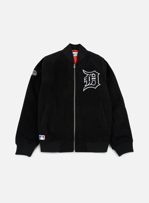giacche new era team apparel melton bomber jacket detroit tigers black