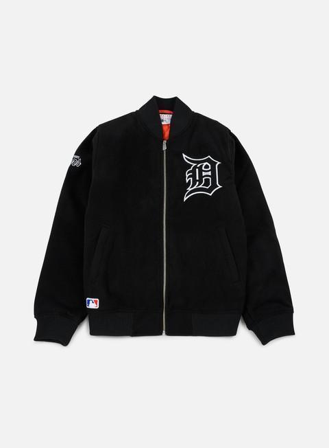 Intermediate Jackets New Era Team Apparel Melton Bomber Jacket Detroit Tigers