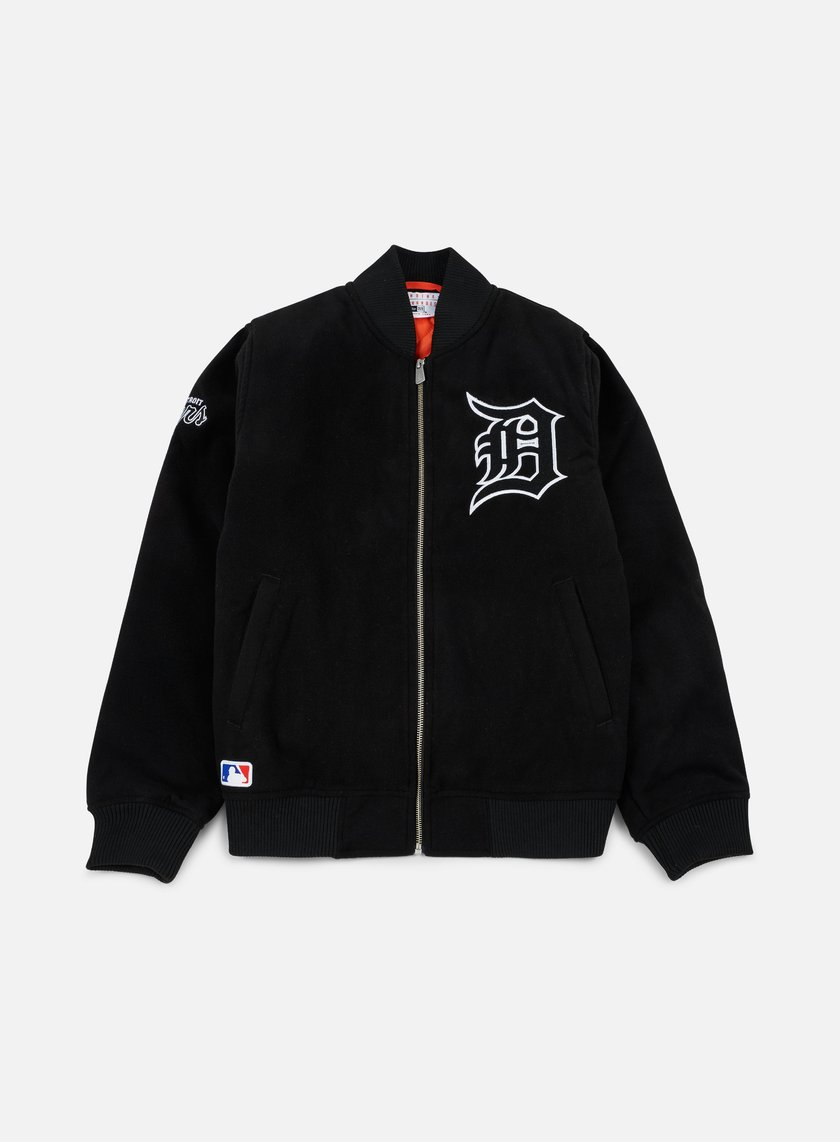 New Era - Team Apparel Melton Bomber Jacket Detroit Tigers, Black