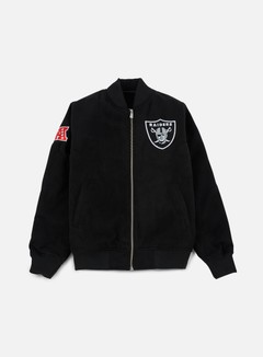New Era - Team Apparel Melton Bomber Jacket Oakland Raiders, Black 1