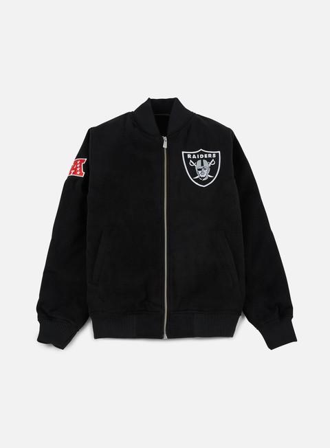 Intermediate Jackets New Era Team Apparel Melton Bomber Jacket Oakland Raiders