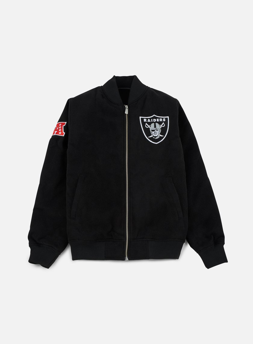New Era - Team Apparel Melton Bomber Jacket Oakland Raiders, Black