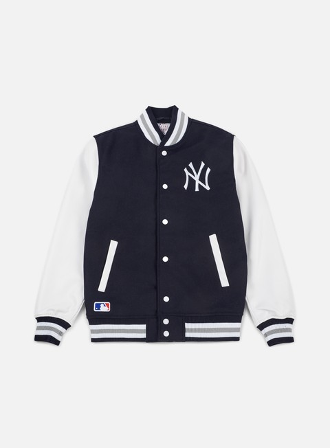 giacche new era team apparel varsity jacket ny yankees navy