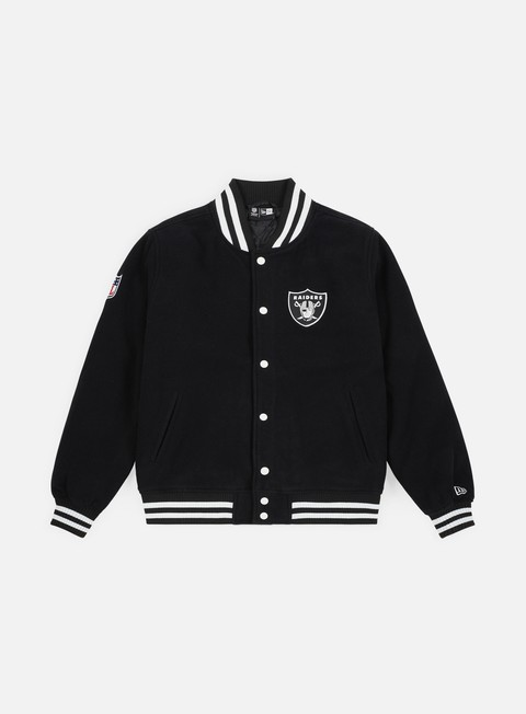 Bomber New Era Team Apparel Varsity Jacket Oakland Raiders