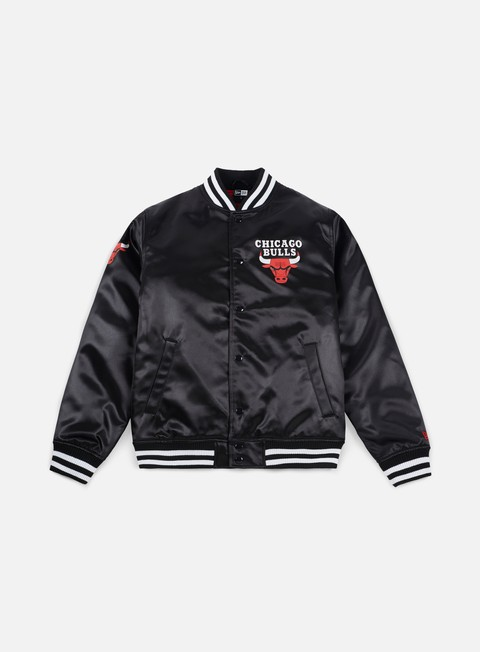 giacche new era tip off sateen bomber jacket chicago bulls black