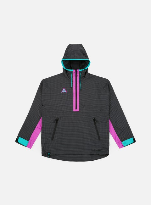 giacche nike acg hd woven jacket anthracite hyper magenta
