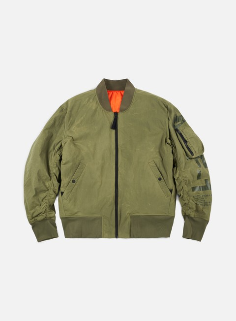 giacche nike af1 reversible woven jacket medium olive rush orange medium olive