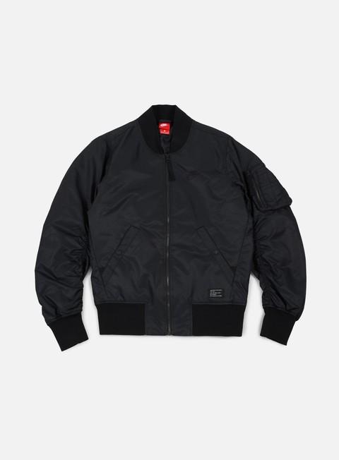 giacche nike af1 woven jacket black black