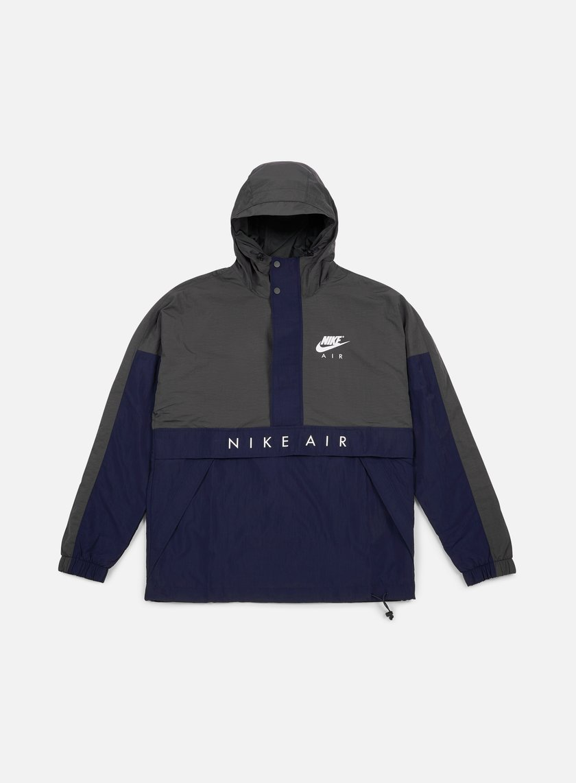 Nike - Air Half Zip Hooded Jacket, Anthracite/Obsidian