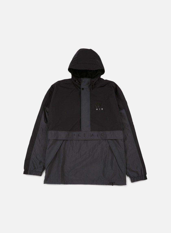 nike air half zip hooded jacket black anthracite 85. Black Bedroom Furniture Sets. Home Design Ideas