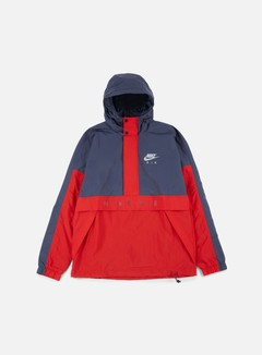 Nike - Air Half Zip Hooded Jacket, Thunder Blue/Wolf Grey/University Red