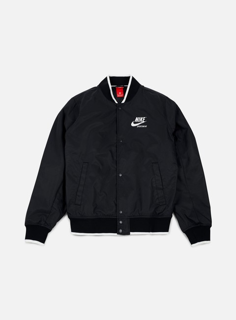 giacche nike archive padded jacket black sail