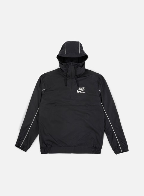 giacche nike archive woven jacket black sail