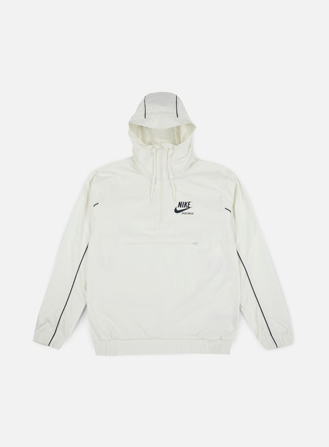 giacche nike archive woven jacket sail obsidian