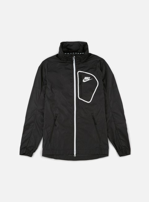 giacche nike av15 woven jacket black white