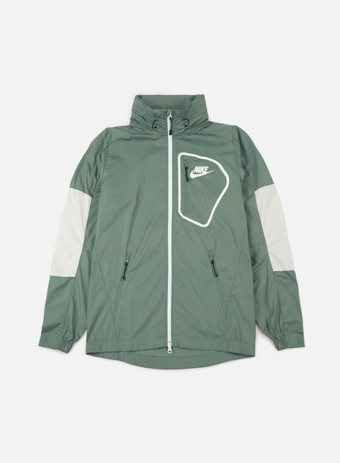 giacche nike av15 woven jacket clay green white