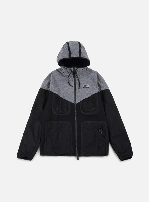 giacche nike international windrunner black grey