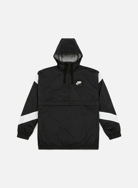 giacche nike nsw air hd woven jacket black white